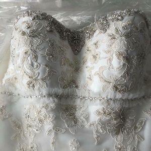Oleg Cassini A-line Wedding Dress